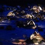 飛騨高山の白川郷の幻想的なライトアップ!
