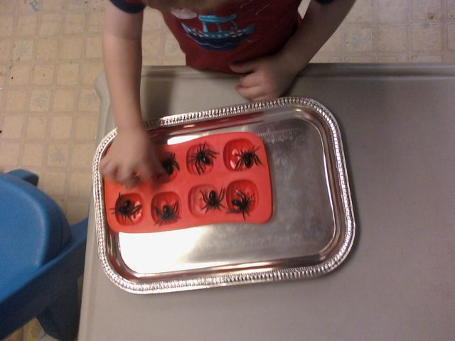 Spider Pumpkin Ice Cube Tray