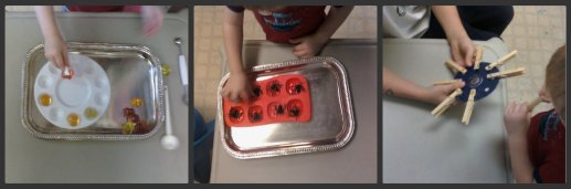 November Fall Tot Trays with Lil' Red