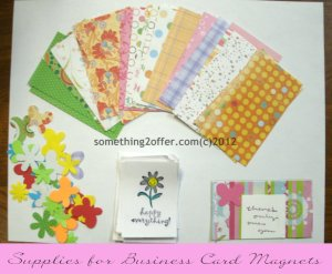 supplies for business card magnets