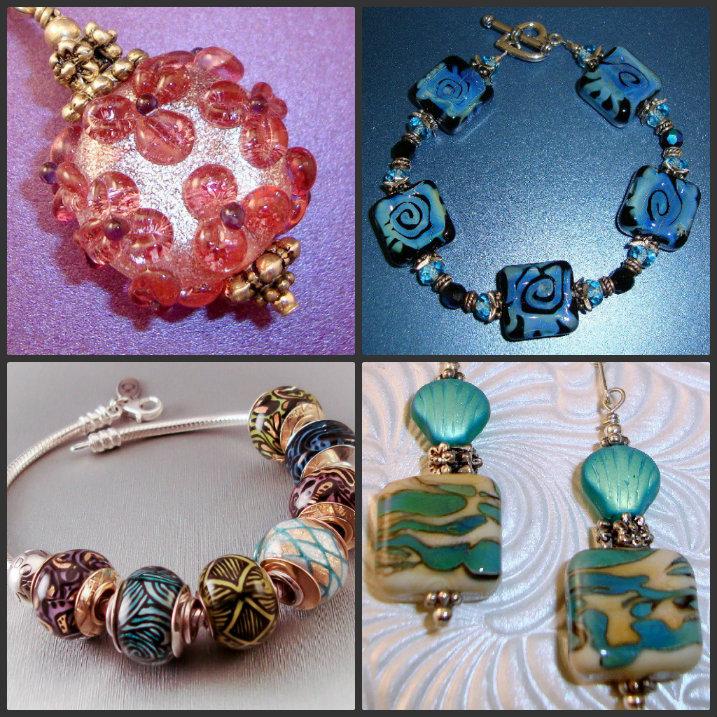 becca grace studio etsy earrings bracelet lampost beads zipper pulls