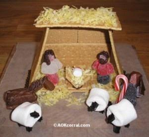 edible nativity