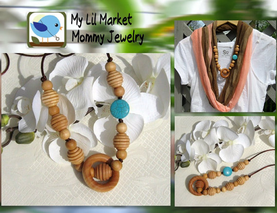 My Lil Market mommy Jewelry Etsy Shop teething necklaces
