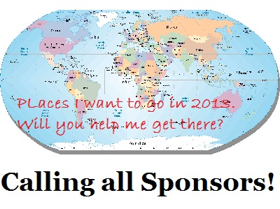 Calling all sponsors places to go in 2013