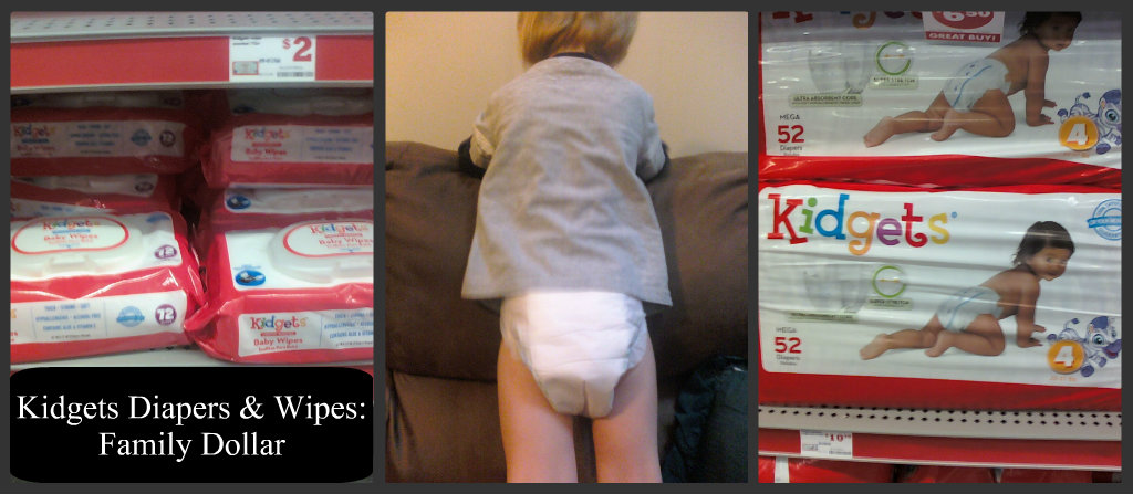 kidgets diapers and wipes Family Dollar