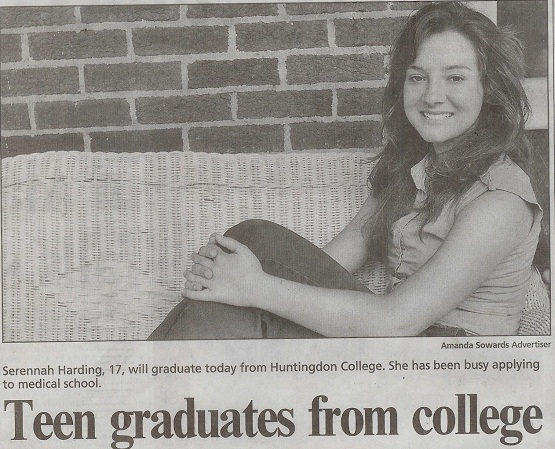 17 year old homeschooler graduates from college!