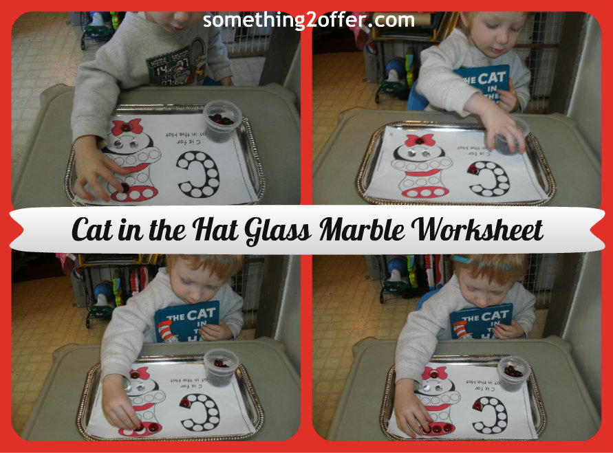 Cat in the Hat Glass Marble worksheet