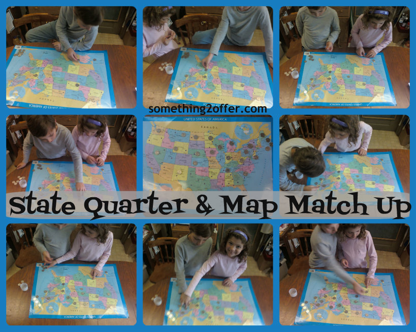 states quarter and map