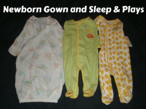 newborn gown and newborn clothes