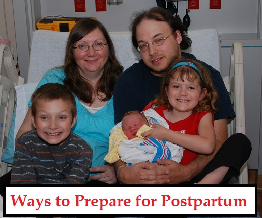 Ways to prepare for postpartum