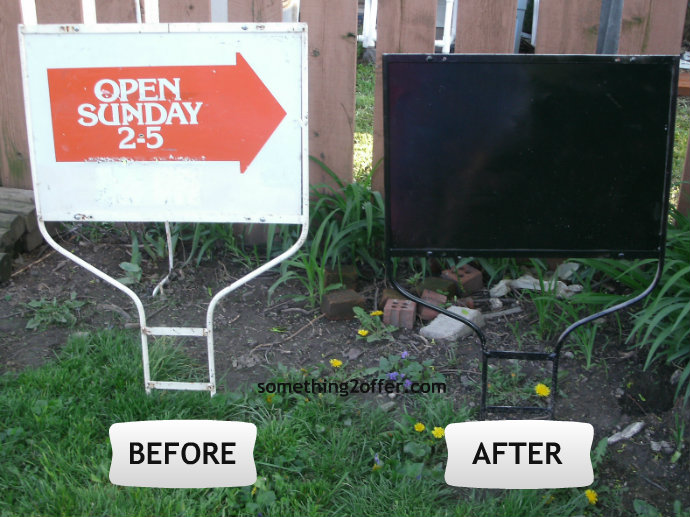 realtor sign before and after