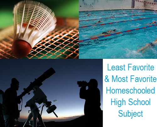 Least Favorite and Most Favorite Homeschooled Subjects
