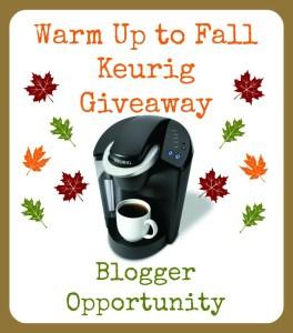 Keurig Giveaway Blogger Opportunity