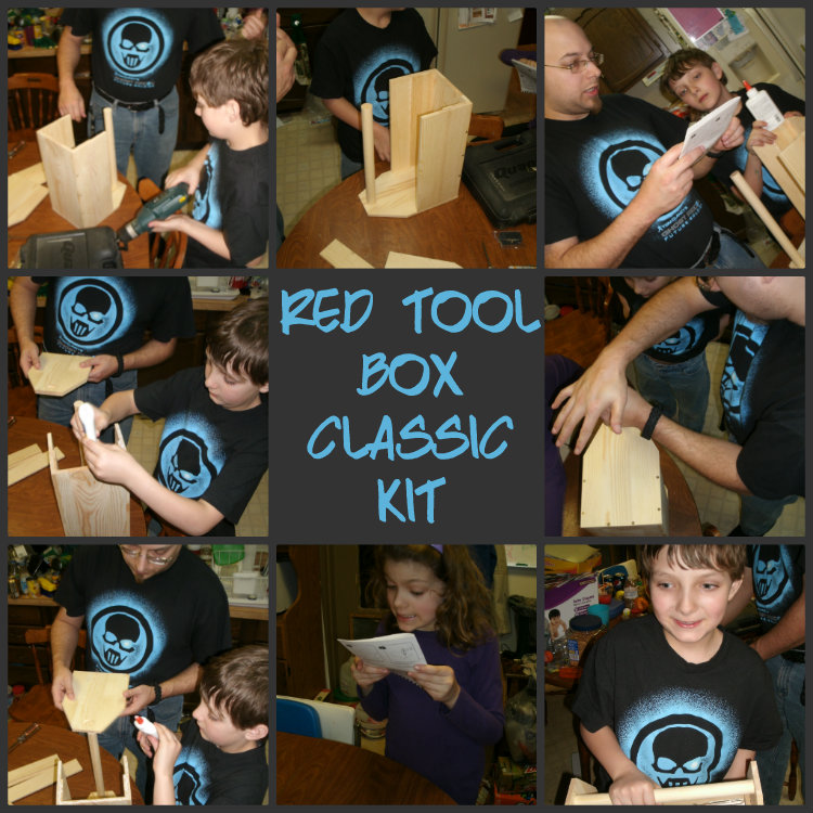 red tool box Collage