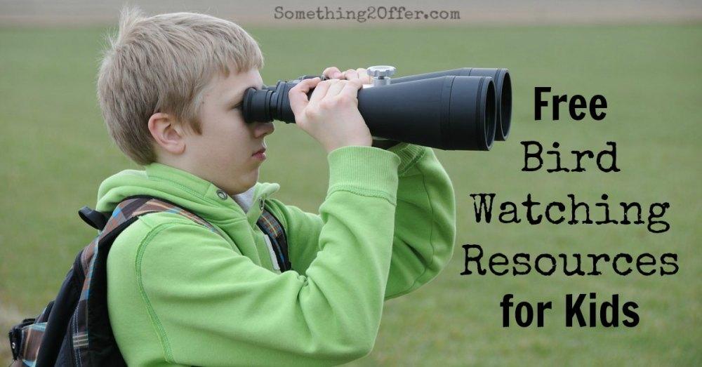 Free Bird Watching Resources for Kids