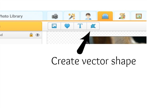 create vector shape with Ipiccy