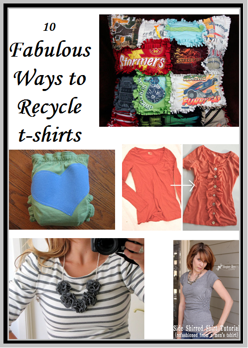 fabulous ways to recycle  t shirts