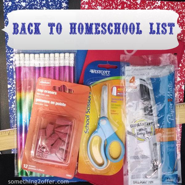 Back to School Homeschool List