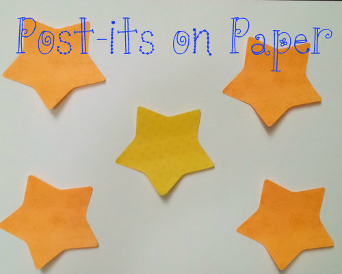 Star post-its on paper