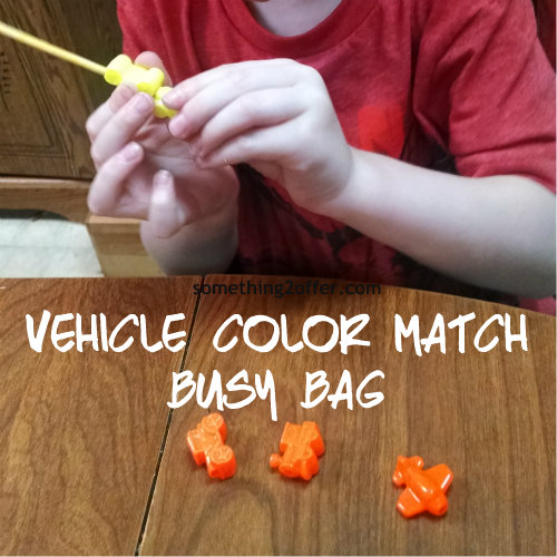 vehicle beads color match busy bags
