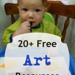 over 20 free art lessons and resources
