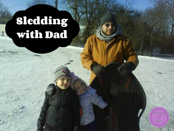 sledding with dad