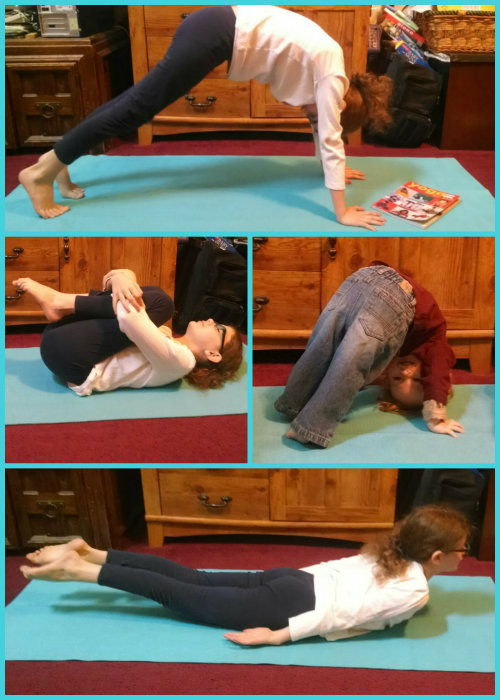 Yoga pose Collage