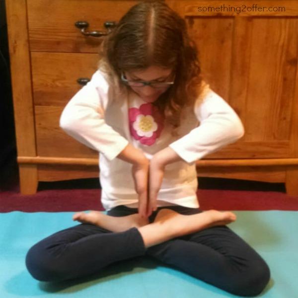 yoga folded hands