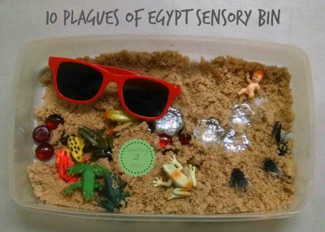 10 plagues of Egypt sensory bin