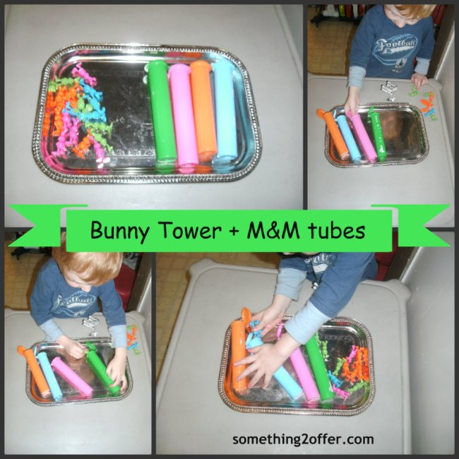 bunny tower m&m tubes