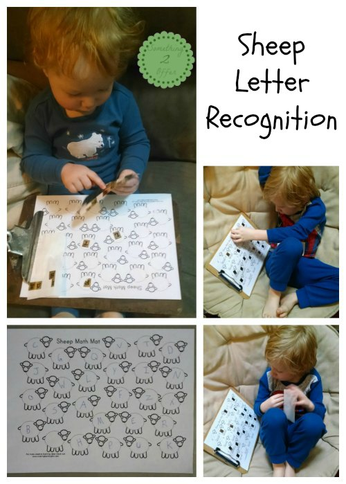 sheep letter recognition Collage