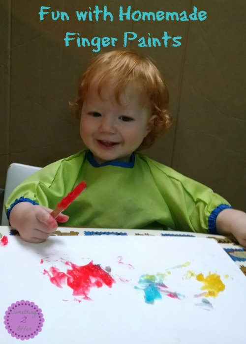 Fun with homemade finger paints