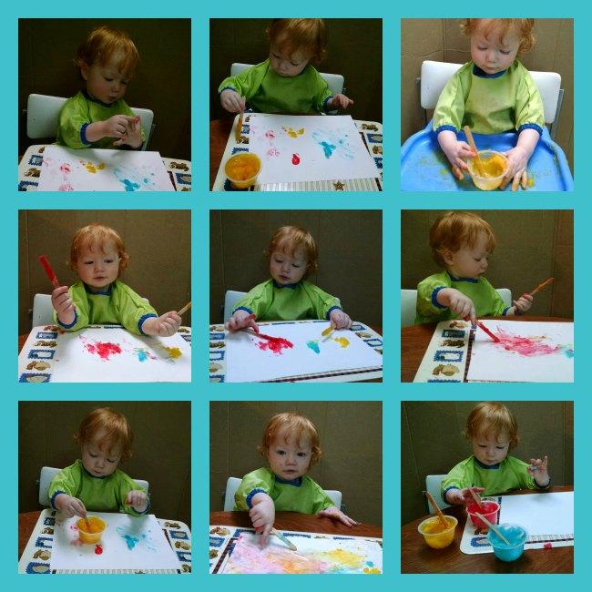 homemade finger paint toddler exploration