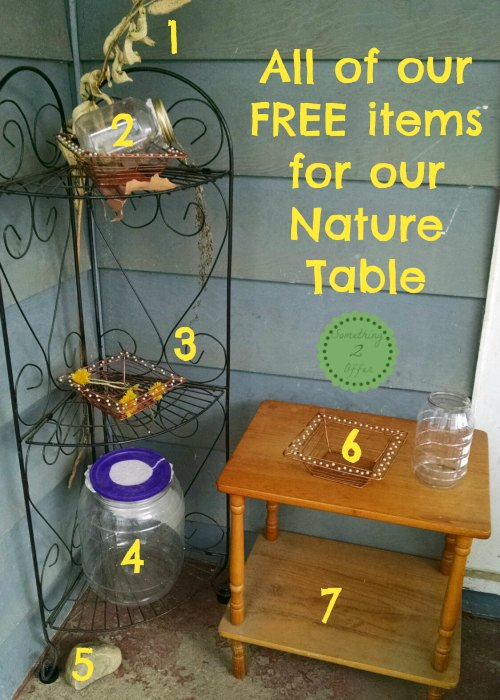 nature table numbered