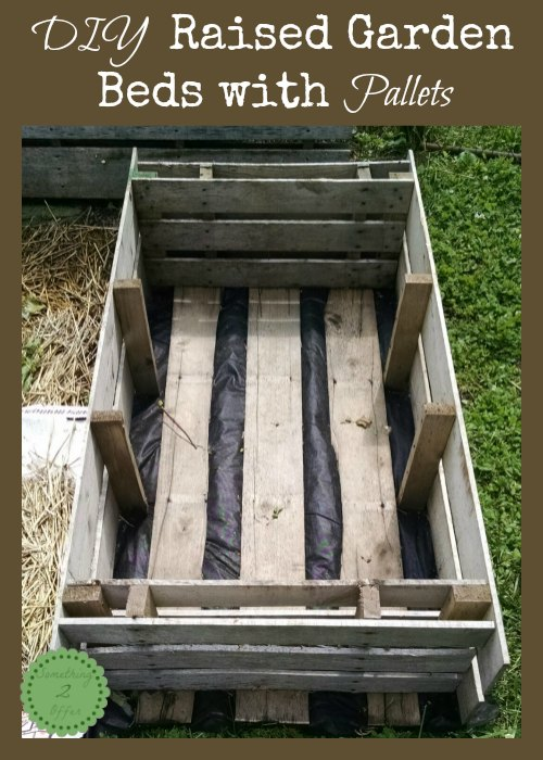 DIY Raised Garden Beds with Pallets