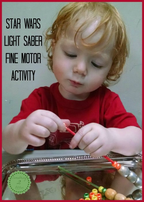 light saber fine motor activity