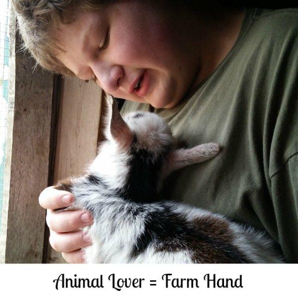 teen farm hand