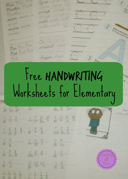 Free Handwriting Worksheets for Elementary