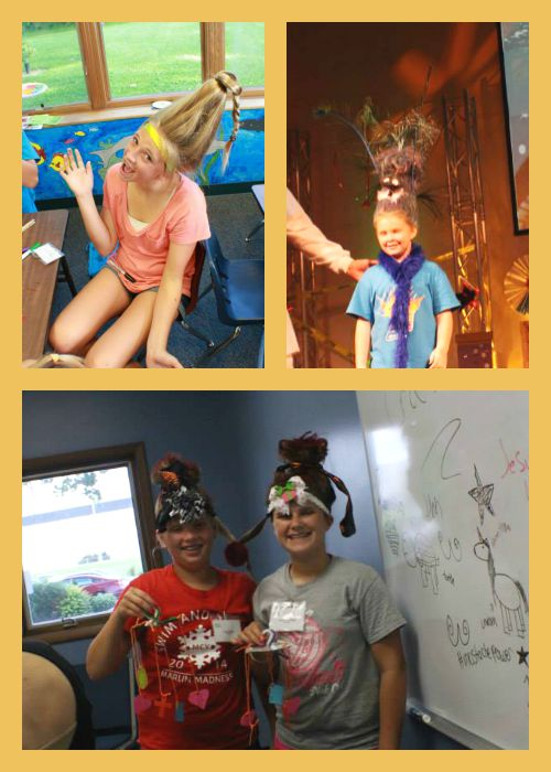 Crazy Hair Day girls