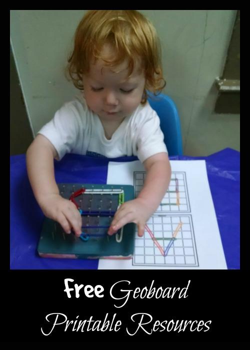 Free Geoboard Printable Resources