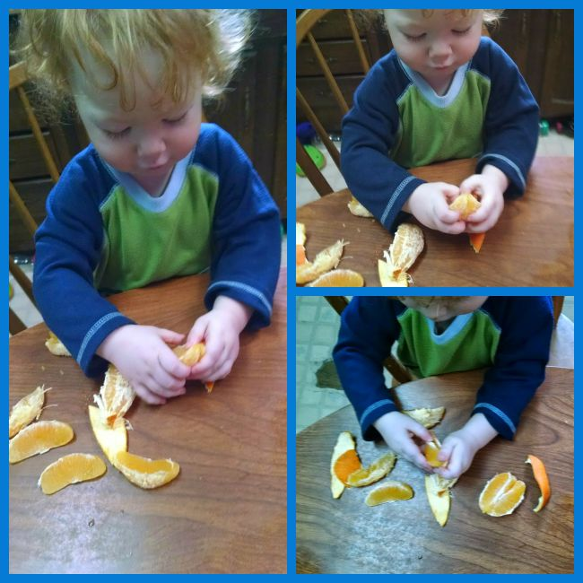 Toddler Orange Peeler