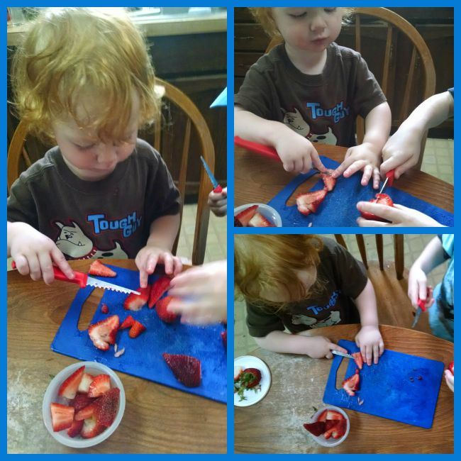 Toddler Strawberry Cutting