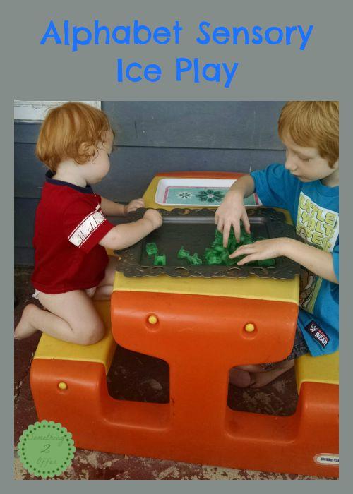 Alphabet Sensory Ice Play