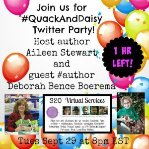 #quackAndDaisy Twitter Party 1 hr left