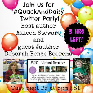#quackAndDaisy Twitter Party 3 hr left