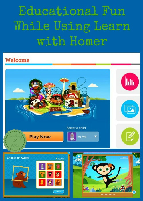 Educational Fun While Using Learn with Homer