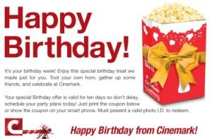 cinemark bday