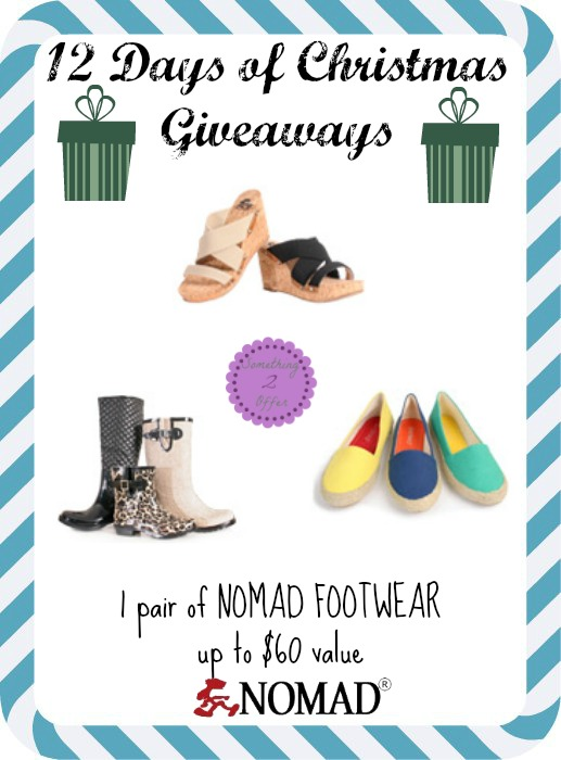 nomad footwear giveaway