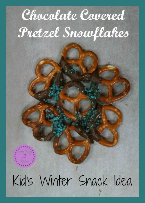 Chocolate Covered Pretzel Snowflake