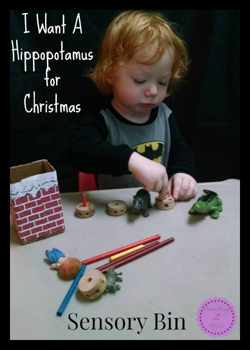 I Want A Hippopotamus for Christmas Sensory Bin